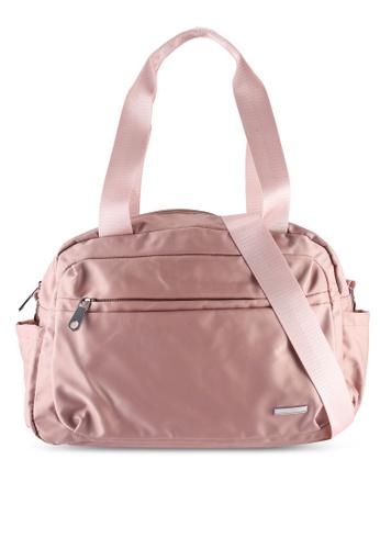 NUVEAU pink Lightweight Nylon Shoulder Bag B62B1AC3002797GS_1