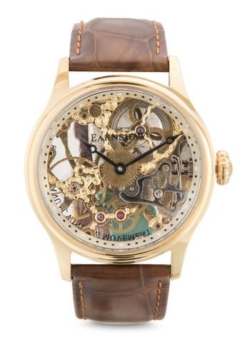 Bauer 機械骨架皮革手錶, 錶類, 飾esprit分店地址品配件