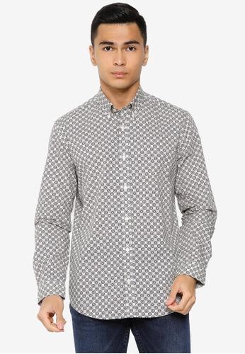 Ben Sherman white Mini Foulard Print Shirt 921FFAA42EC83AGS_1