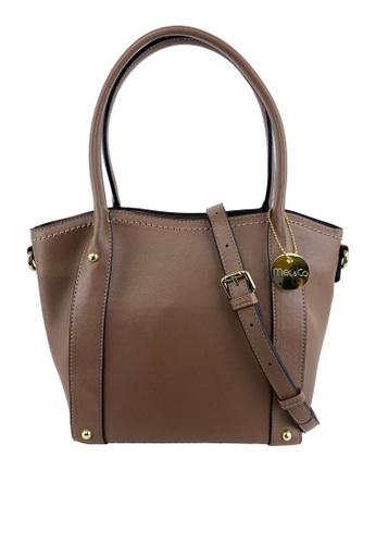 Mel&Co brown Basic Satchel Bag 8E093AC42EB48CGS_1
