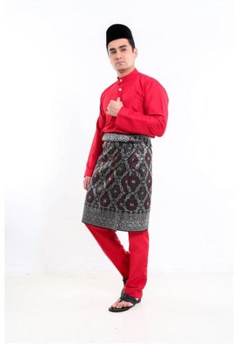 Amar Amran red Baju Melayu Moden F52CAAAFD6DF8CGS_1