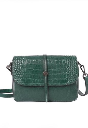 Twenty Eight Shoes green VANSA Simple Contrast Leather Crossbody Bag VBW-Cb2318 30534AC2EEC821GS_1