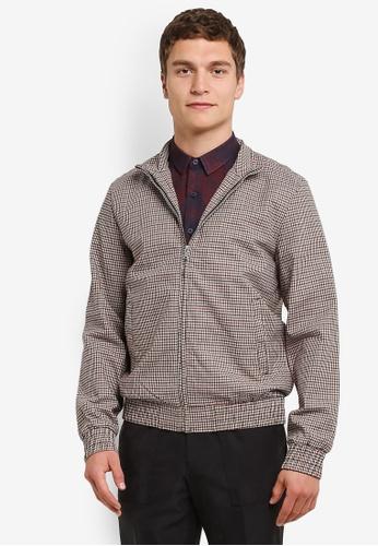 Topman multi Checkered Harrington Jacket TO413AA0ROA1MY_1