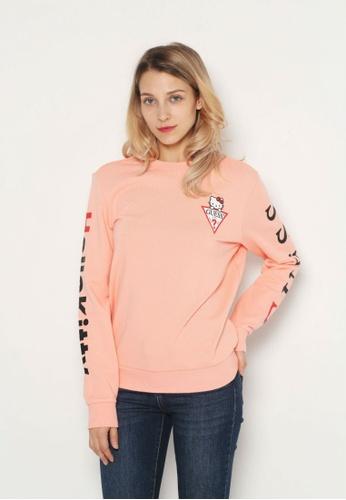 543ff75b6181 Guess pink Guess x Hello Kitty Triangle Logo Sweatshirt 562A2AA8021280GS 1