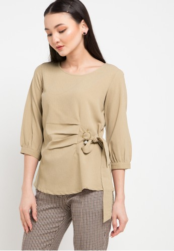 WHITEMODE multi and brown Chelsea Blouses B5ED6AA403AFD4GS_1