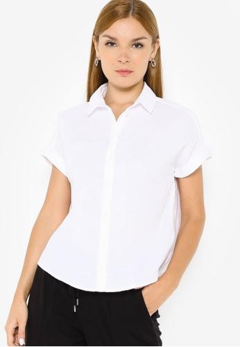 Banana Republic white Button Up Double Gauze Shirt 902AAAA05F988DGS_1