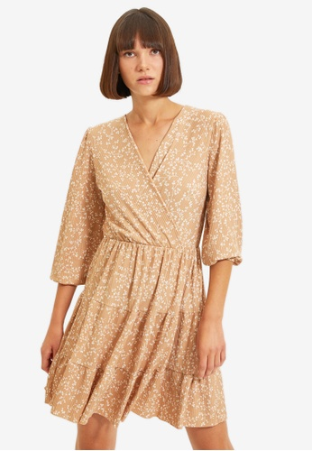 Trendyol brown Camel Dress 3BF27AAA2FA2A0GS_1