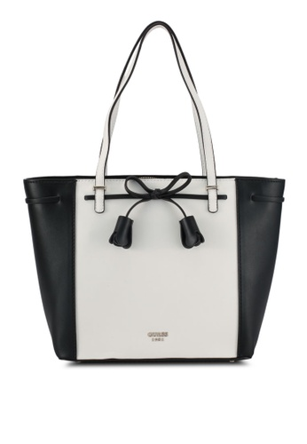 Guess black and white Leila Carryall Bag F35D2AC5917E53GS_1