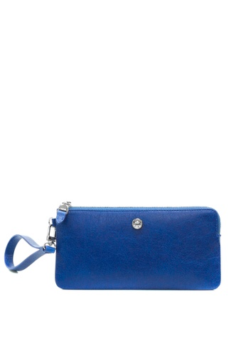 Enjoybag blue Alice Leather Zip Wristlet EN763AC2VPC9HK_1