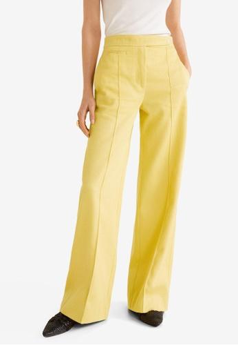 Mango yellow Cotton Corduroy Trousers CCF94AA07A7D7DGS_1