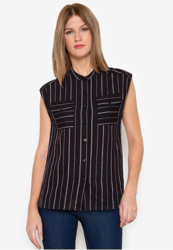ZALORA BASICS multi Mandarin Collar Shirt 45166AA606A5FDGS_1