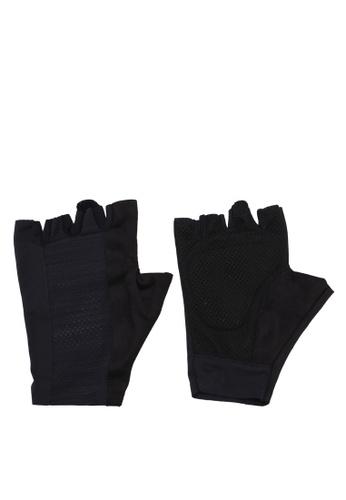 Reebok black One Series Unisex Training Gloves RE691AC0SW0DMY_1