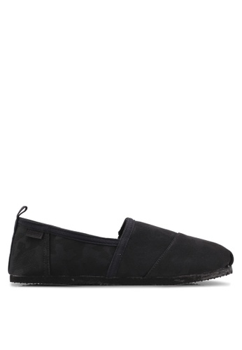 Superdry black Kai Slip On Shoes 5FD6CSHD8E5F24GS_1