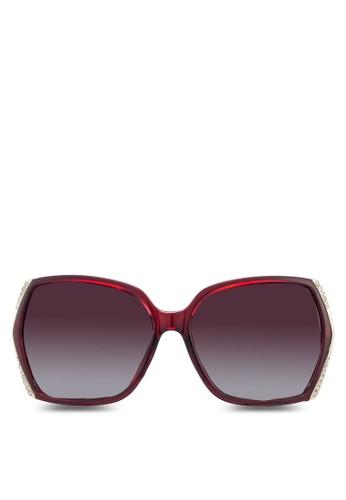 水晶飾矩形框太陽眼鏡, 飾品配件esprit衣服目錄, 飾品配件