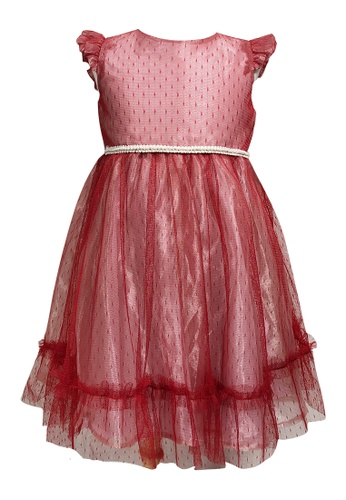 MINI PINK multi Gorgeous Little Party Tulle Organza Dress Pinkish Red 425EFKAB11569AGS_1