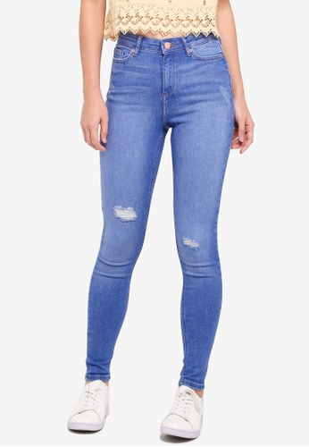 Miss Selfridge blue Lizzie Blue Short Jeans C41D1AAF441CE7GS_1
