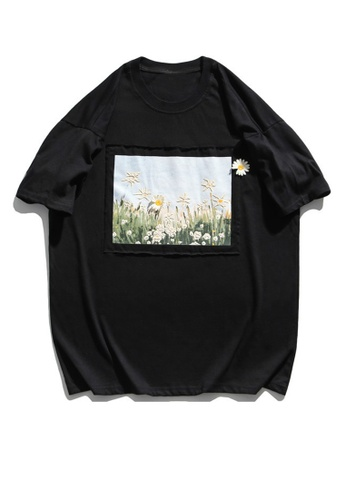 Twenty Eight Shoes Printed T-shirt With Daisy On Canvas HH1111 5306BAA6D53BBCGS_1