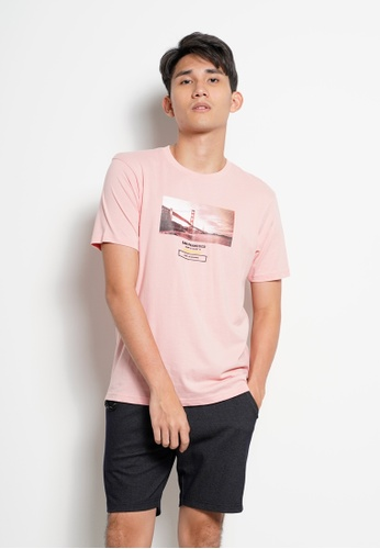 Hi Style pink Graphic Short Sleeve T-Shirt 75642AA46DC46DGS_1