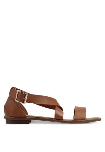 Bata 褐色 繞帶涼鞋 97BBBSH87A937DGS_1