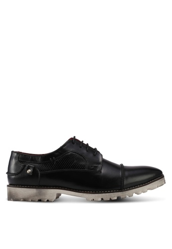 Acuto black Leather Shoes AC283SH0SL76MY_1