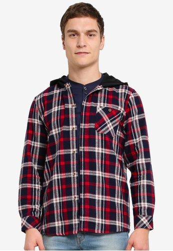 Pestle & Mortar multi Third Base Hooded Flannel Jacket PE354AA0SJ8LMY_1