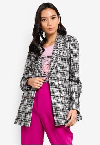 e6254b67be Buy TOPSHOP Molly Checkered Kleo Jacket Online on ZALORA Singapore