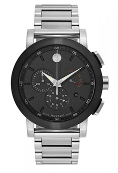 fe8db010b movado black and silver MOVADO Museum Chronograph Grey Dial Stainless Steel  Men's Watch 0B35AAC20C4DDAGS_1