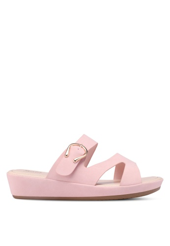 Bata pink Faux Leather Sandals EE38CSH801EDA3GS_1