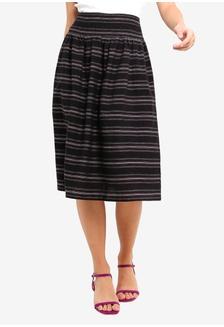 67dc90f8f0 Cotton Striped Skirt 8C459AAB4CA5EBGS 1