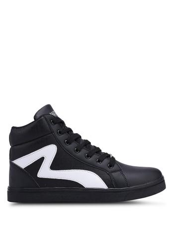 Rocklander black High Top Textured Sneakers 0C7D1SH748EB9FGS_1