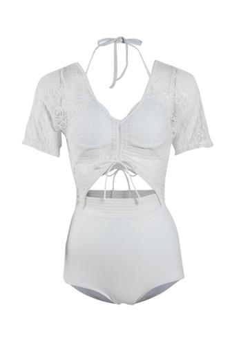Its Me white Elegant Lace One Piece Bikini Swimsuit AB827US0B4EB06GS_1