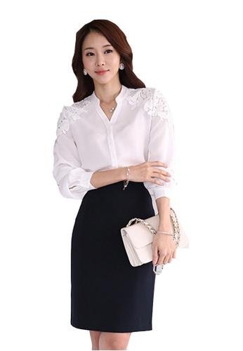 Sunnydaysweety white New White Chiffon Long Sleeves Blouse CA03086 SU219AA0GNT0SG_1