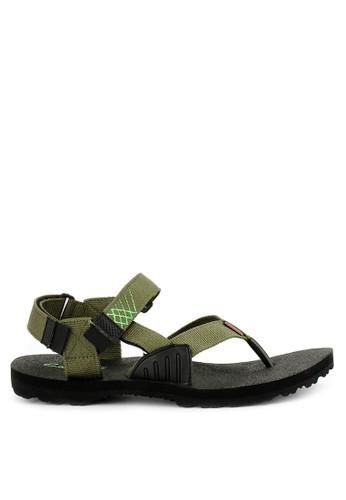 CARVIL green and multi Carvil Sandal Sponge Gunung Man Aeroplane Black Olive 030DASHF4C1B2DGS_1