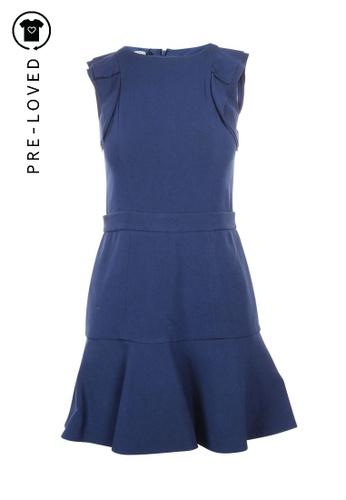 Miu Miu blue Pre-Loved miu miu Navy Dress With Ruffles 2E70BAA1FCE4B8GS_1