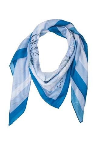 LUX@ME blue Luxatme Fello Aquatic Floral Scarf 5DB51AABDF2B57GS_1