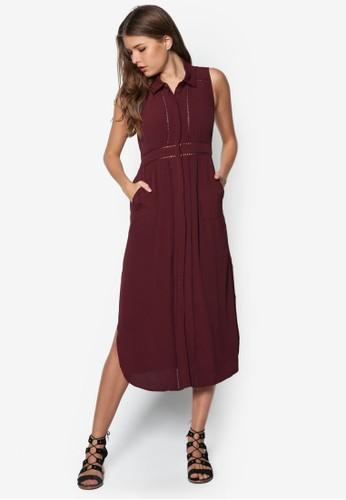 Elosie 鉤針esprit台灣襯衫式洋裝, 服飾, 洋裝