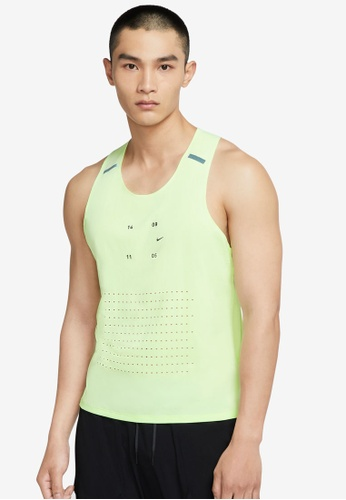 Nike yellow Men's Nike Tech Pack Running Singlet D01F0AA2A5BF58GS_1