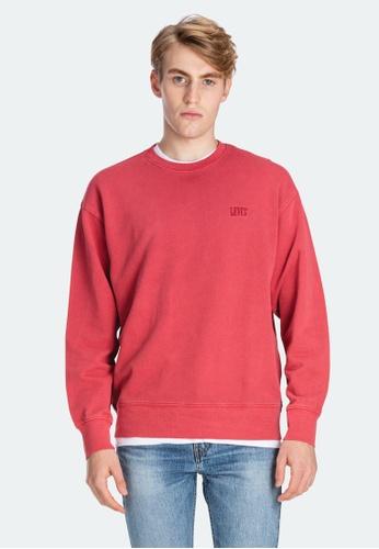 Levi's red Levi's Authentic Logo Crewneck Sweatshirt 85531-0002 A6906AA322C012GS_1