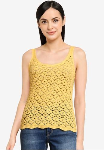 Vero Moda yellow Amber V-neck Top A3B2FAA236CCF5GS_1