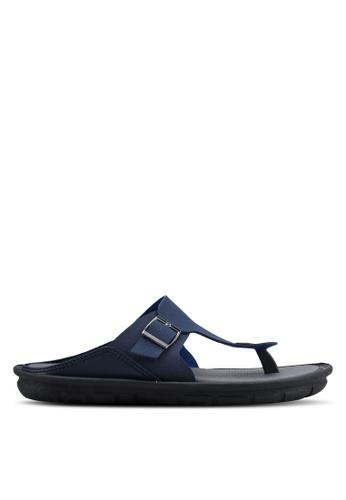 Bata blue Slip On Sandals A169CSHA2D7B94GS_1