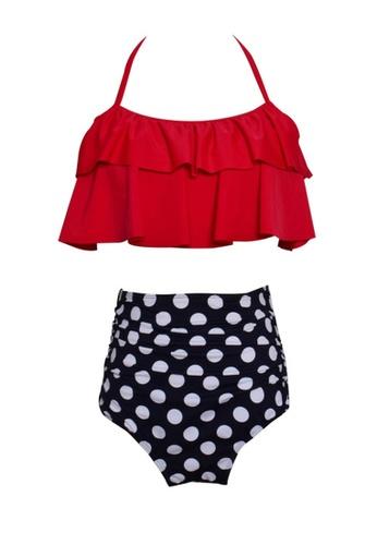 Twenty Eight Shoes red VANSA Ruffle Bikini Parent-child Swimsuit VCW-Sw01801A 96D6CUSA1ACBD8GS_1