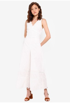 cc1182e8ca8f 10% OFF Miss Selfridge Petite Ivory Ivory Wide Leg Jumpsuit RM 299.00 NOW  RM 268.90 Available in several sizes