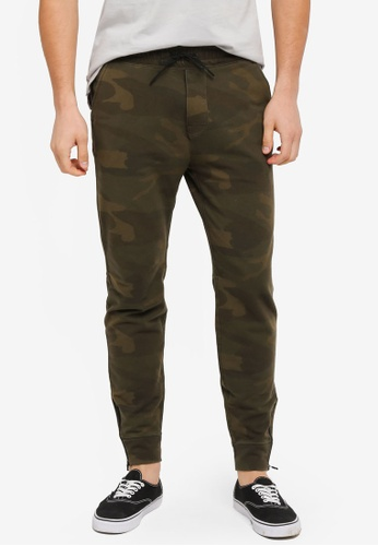 Abercrombie & Fitch green Black Label Jogger Pants AB423AA0T11AMY_1