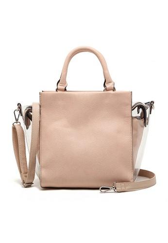 LULUGIFT beige Sporty OL Mutli Fashion 2n1 Sling Bag LU989AC93FKWMY_1