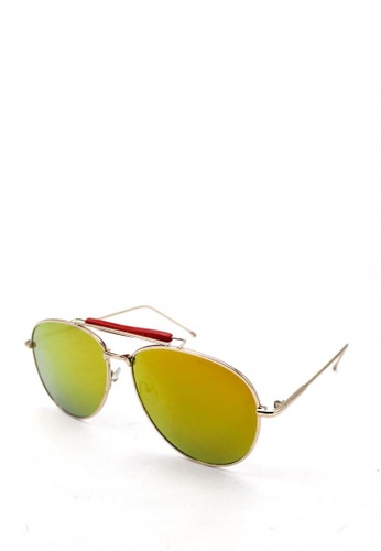 Peculiar and Odd gold Oversized Aviator Straight 501 Sunglasses 4CA7EGLD1C6098GS_1