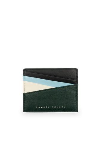 Samuel Ashley green Bronx ID Card Holder - Pine/Beige 80F04AC3C0F86AGS_1