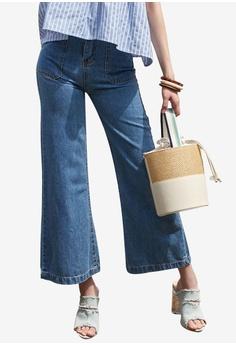 395b2a30a509 NAIN blue Pocket Detail Wide Jeans A962CAA09976B6GS 1