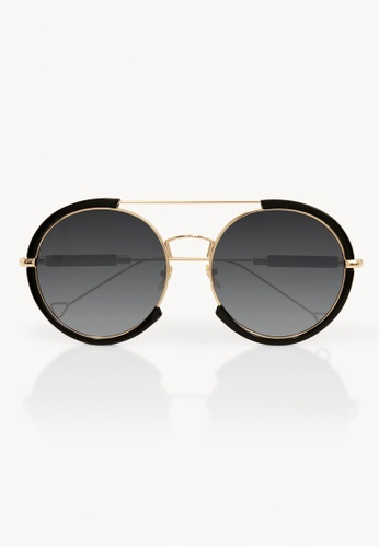 228bc8a6e3 Buy Pomelo Oversized Double Bridge Solid Sunglasses - Black