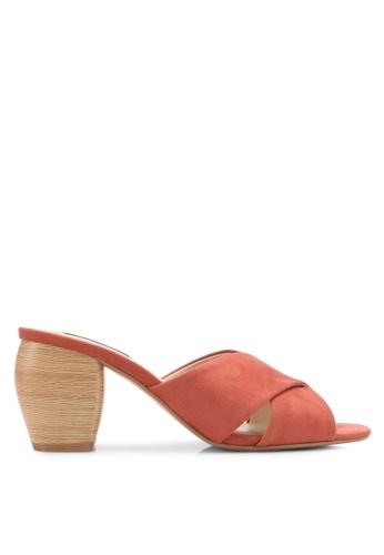 ZALORA pink Wooden Block Detail Heels 22DD8SH4A836E3GS_1