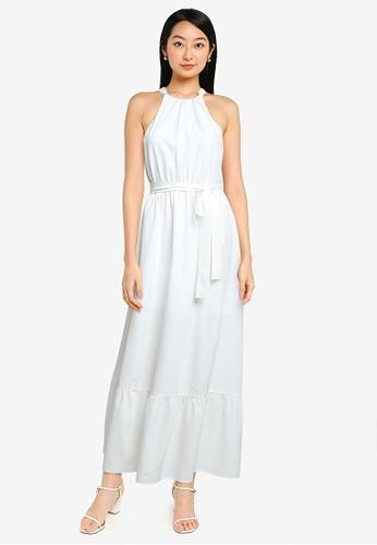 ZALORA BASICS white Halter Neck Tiered Dress A1777AA6AE60E2GS_1